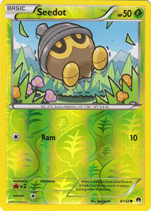 POKEMON CARD XY BREAK-POINT SEEDOT 4//122 REV-ERSE HOLO