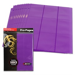BCW Side Loading 18 Pocket Pro Pages - Purple