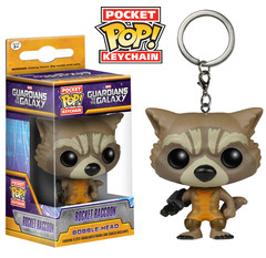 Pocket POP! Guardians Of The Galaxy Rocket Raccoon Mini-Figure Keychain