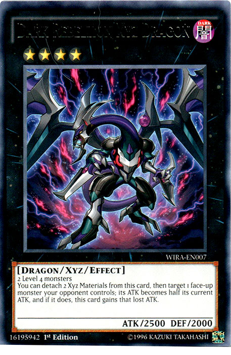 Dark Rebellion Xyz Dragon - WIRA-EN007 - Rare- 1st Edition