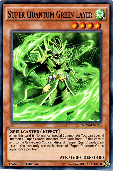 Super Quantum Green Layer - WIRA-EN031 - Super Rare - 1st Edition