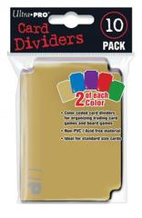 Ultra PRO Color Coded Card Dividers - 10 ct