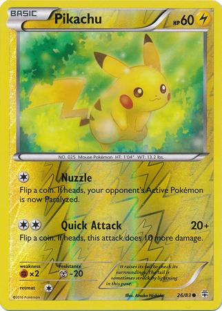 Pikachu - 26/83 - Common - Reverse Holo