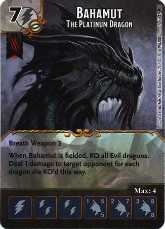 Bahamut - The Platinum Dragon (Die & Card Combo)