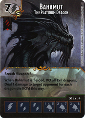 Bahamut - The Platinum Dragon (Die & Card Combo)