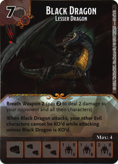 Black Dragon - Lesser Dragon (Die & Card Combo)