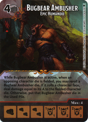 Bugbear Ambusher - Epic Humanoid (Die & Card Combo)