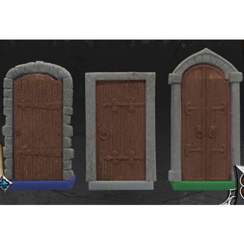 Zombicide 3d doors board games cool mini or not sun for Puertas 3d zombicide