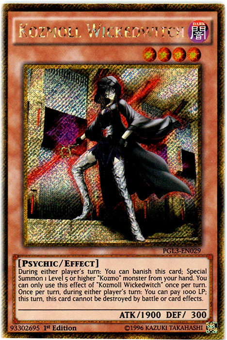 Kozmoll Wickedwitch - PGL3-EN029 - Gold Secret Rare - 1st Edition