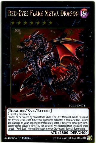 Red-Eyes Flare Metal Dragon   - PGL3-EN078 - Gold Rare