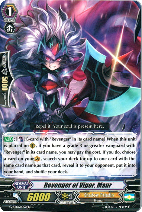 Revenger of Vigor, Maur - G-BT06/059EN - C