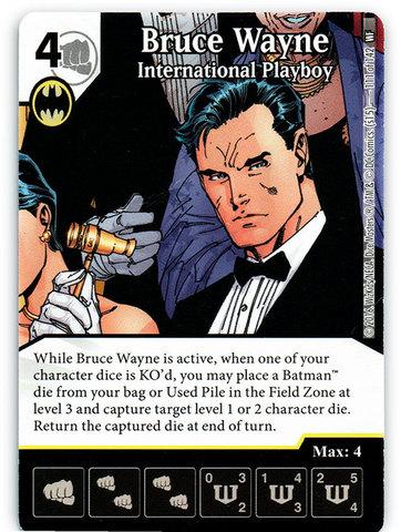 Bruce Wayne - International Playboy (Die & Card Combo)