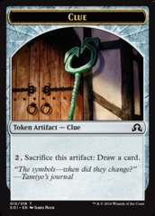 Clue Token 15/18 (Shadows Over Innistrad)