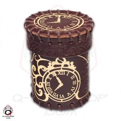 Steampunk Leather Dice Cup - Brown
