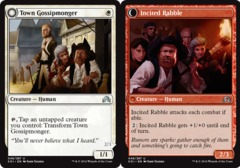 Town Gossipmonger // Incited Rabble - Foil