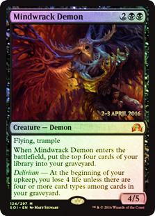 Mindwrack Demon - Foil - Prerelease Promo