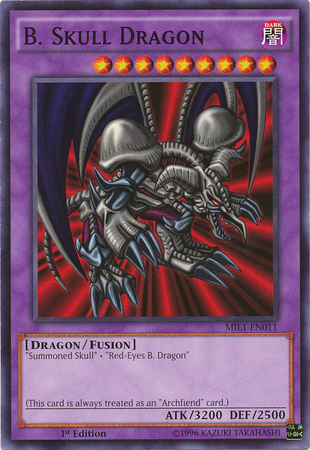 B. Skull Dragon - MIL1-EN011 - Common - 1st Edition