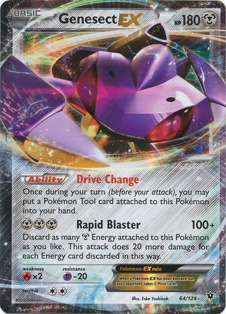 Genesect-EX - 64/124 - Holo Rare ex