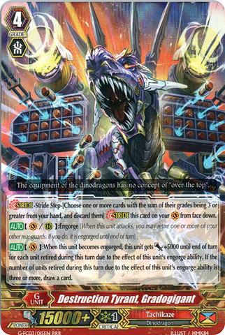 Destruction Tyrant, Gradogigant - G-FC03/015 - RRR