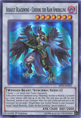 Assault Blackwing - Chidori the Rain Sprinkling - SHVI-EN051 - Super Rare - 1st Edition on Channel Fireball