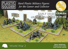Early War German Heavy Weapons 1939-42 (52 figures & 8 models)