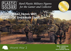 Allied M4A1 76mm Wet Stowage Sherman Tank (5 vehicles)
