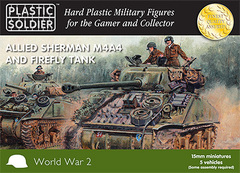 Allied M4A4 and Firefly Sherman Tank (5 vehicles)