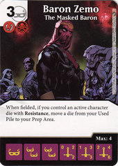 Baron Zemo - The Masked Baron (Die & Card Combo)