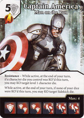 Captain America - Man on the Run (Die & Card Combo)