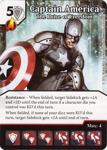 Captain America - The Price of Freedom (Die & Card Combo