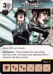Maria Hill - Tough Decisions (Card Only)