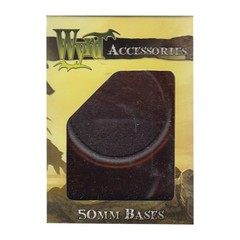 Malifaux: Accessories - Brown Translucent Bases 50mm