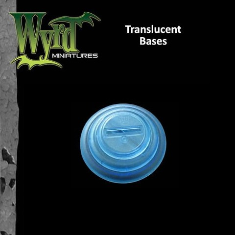 Malifaux: Accessories - Blue Translucent Bases 40mm (5)