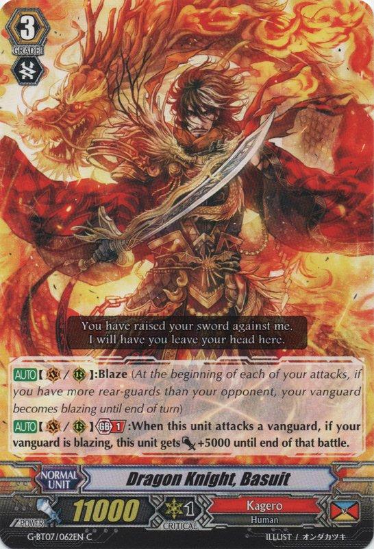 Nadel 1x Cardfight! C Near Mint Vanguard Dragon Knight G-BT07//068EN