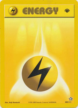 Lightning Energy - 100/102 - Common - 1st Edition