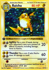 Raichu - 14/102 - Holo Rare - 1st Edition
