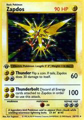 Zapdos - 16/102 - Holo Rare - 1st Edition