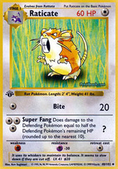 Raticate - 40/102 - Uncommon - 1st Edition