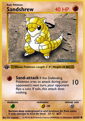 Sandshrew - 62/102 - Common - 1st Edition
