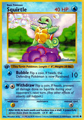 Squirtle - 63/102 - Common - 1st Edition