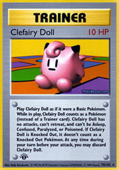 Clefairy Doll - 70/102 - Rare - 1st Edition