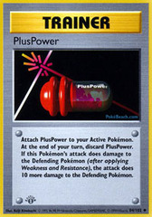 PlusPower - 84/102 - Base Set Uncommon - 1st Edition