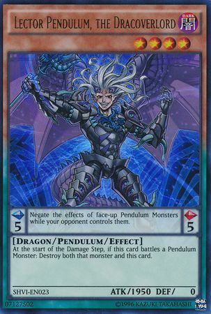 Lector Pendulum, the Dracoverlord - SHVI-EN023 - Ultra Rare - Unlimited Edition