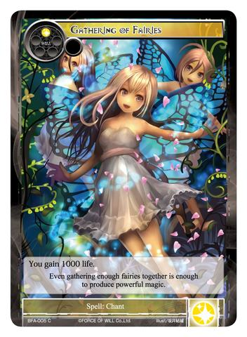 Gathering of Fairies - BFA-005 - C - Force of Will Singles