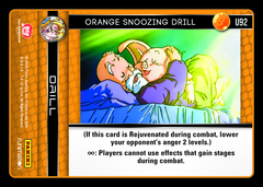 Orange Snoozing Drill - U92 - Foil