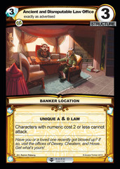 Ancient and Disreputable Law Office - Foil