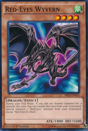 Red-Eyes Wyvern - SR02-EN010 - Common - 1st Edition