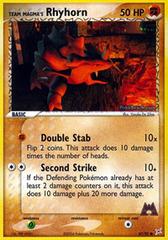 Team Magma's Rhyhorn - 67/95 - Common