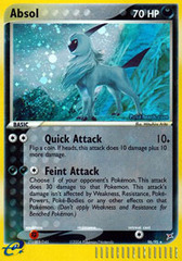 Absol - 96/95 - Rare Holo on Channel Fireball