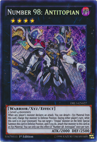 Number 98: Antitopian - DRL3-EN027 - Secret Rare - 1st Edition